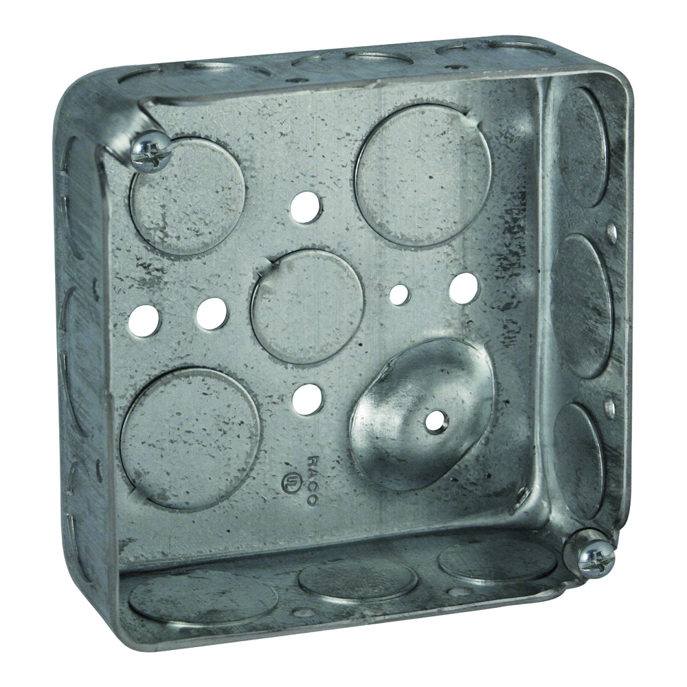 Picture of Orbit D4SB-50/75 Switch Box, 2-Gang, 16-Knockout, 1/2, 3/4 in Knockout, Steel, Gray, Galvanized