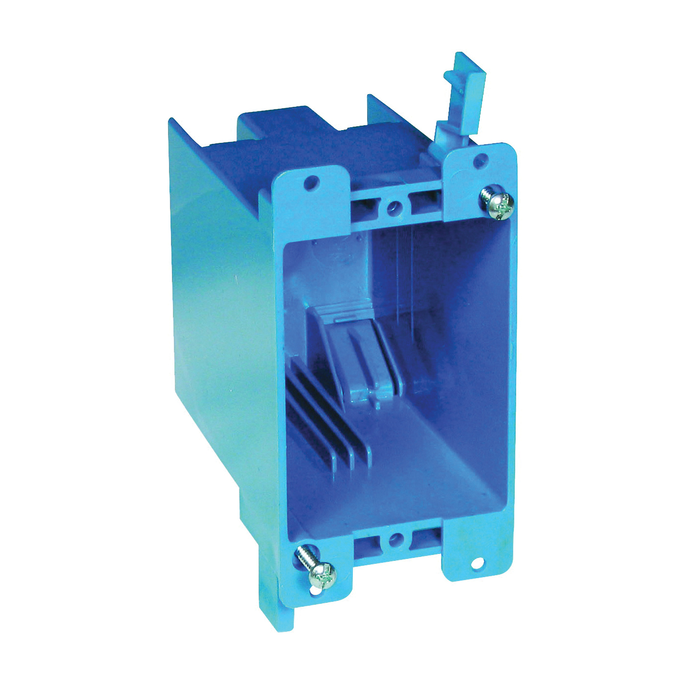 Picture of Carlon B120R Outlet Box, 1-Gang, PVC, Blue, Clamp Mounting