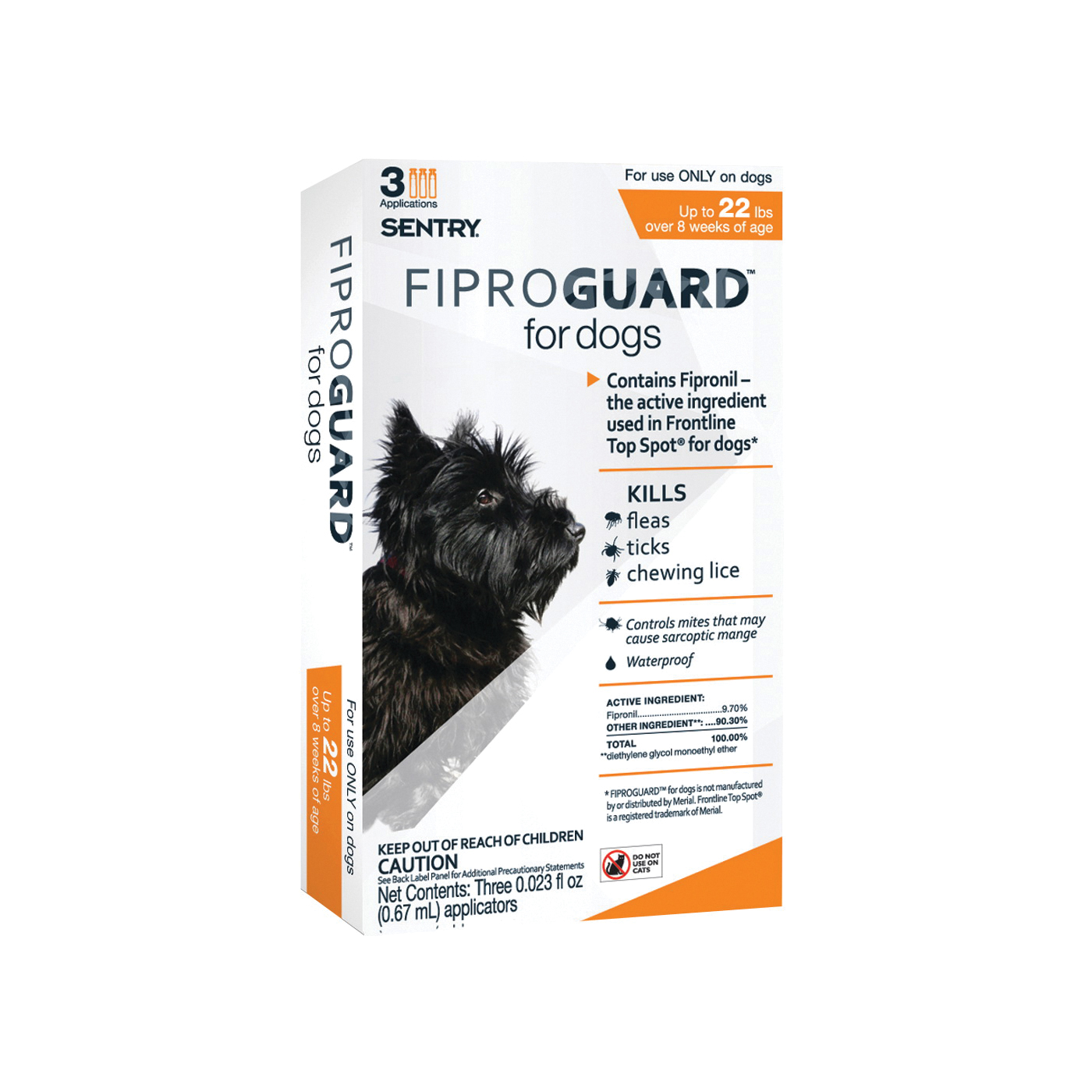 Picture of SENTRY Fiproguard 02950 Flea and Tick Squeeze-On, Liquid, 3 Count Package