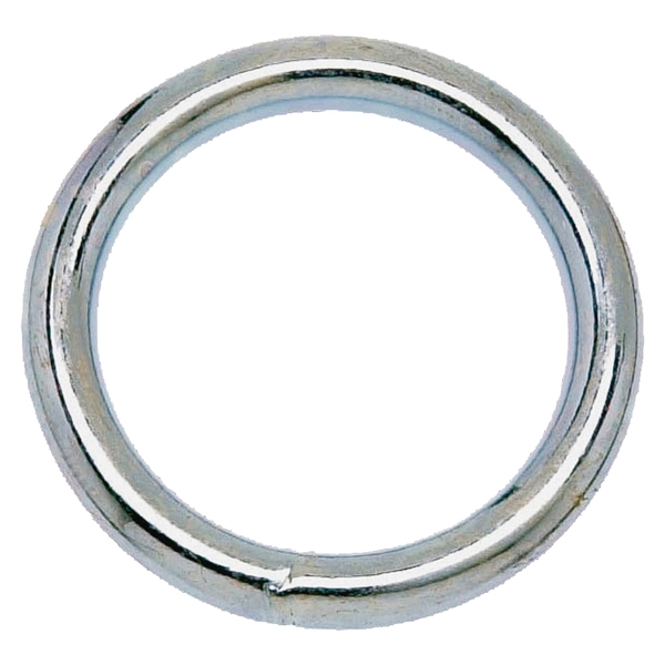 Picture of Campbell T7665042 Welded Ring, 200 lb Working Load, 1-1/2 in ID Dia Ring, #3 Chain, Steel, Nickel