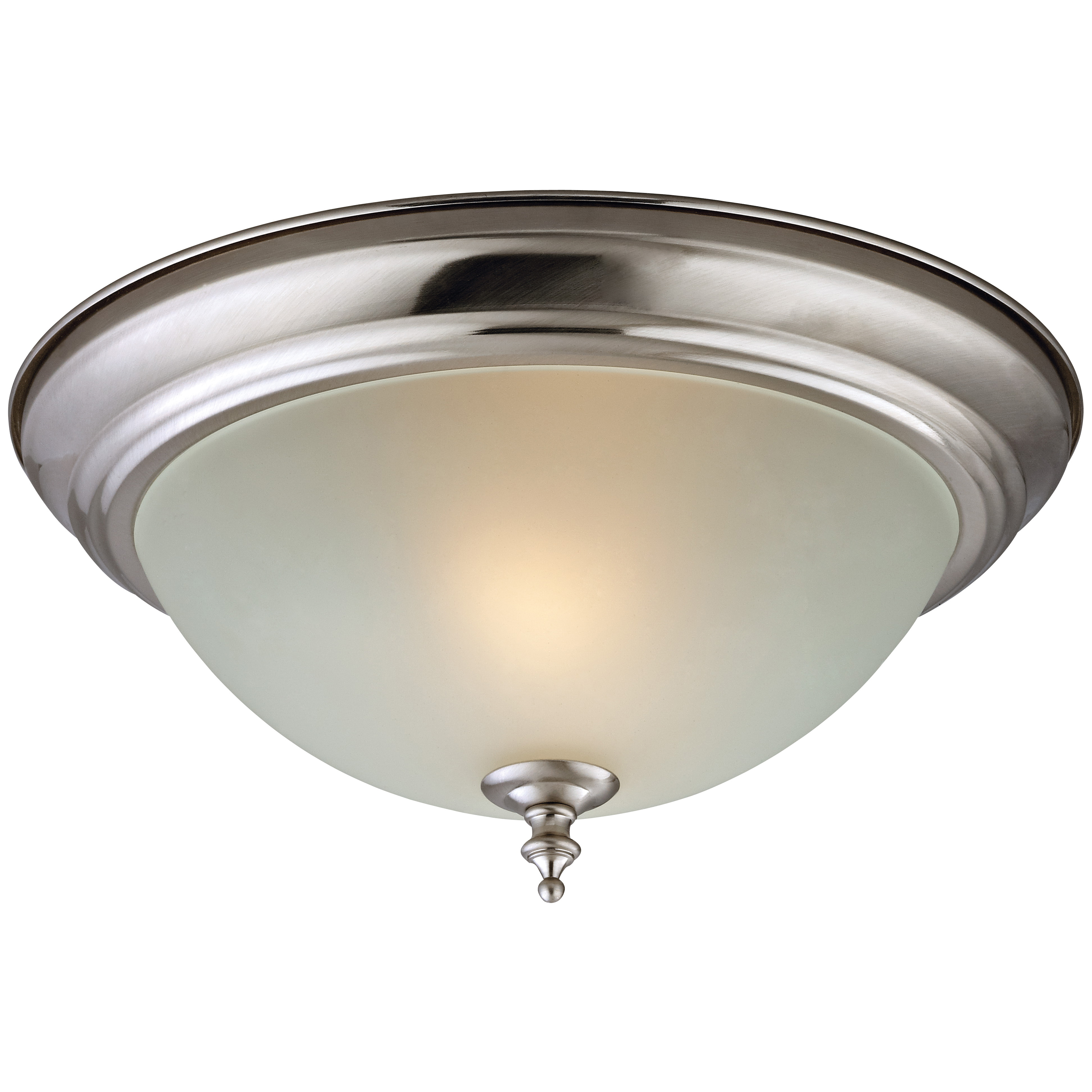 Picture of Boston Harbor F51WH02-1005-BN Ceiling Light Fixture, 2-Lamp, CFL Lamp, Brushed Nickel Fixture