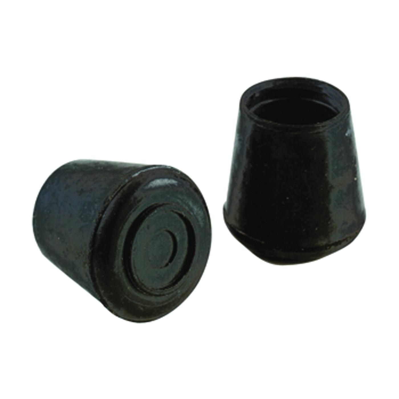 Picture of Shepherd Hardware 9129 Furniture Leg Tip, Round, Rubber, Black, 1-1/8 in Dia