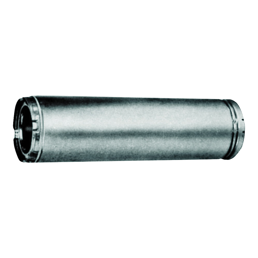 Picture of AmeriVent 6HS-12 Chimney Pipe, 9 in OD, 12 in L, Galvanized Stainless Steel