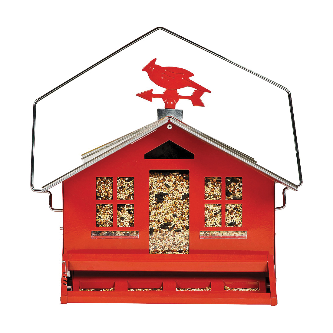 Picture of Perky-Pet Squirrel-Be-Gone II 338 Wild Bird Feeder, Country, 8 lb, Metal, 14 in H, Pole Mounting