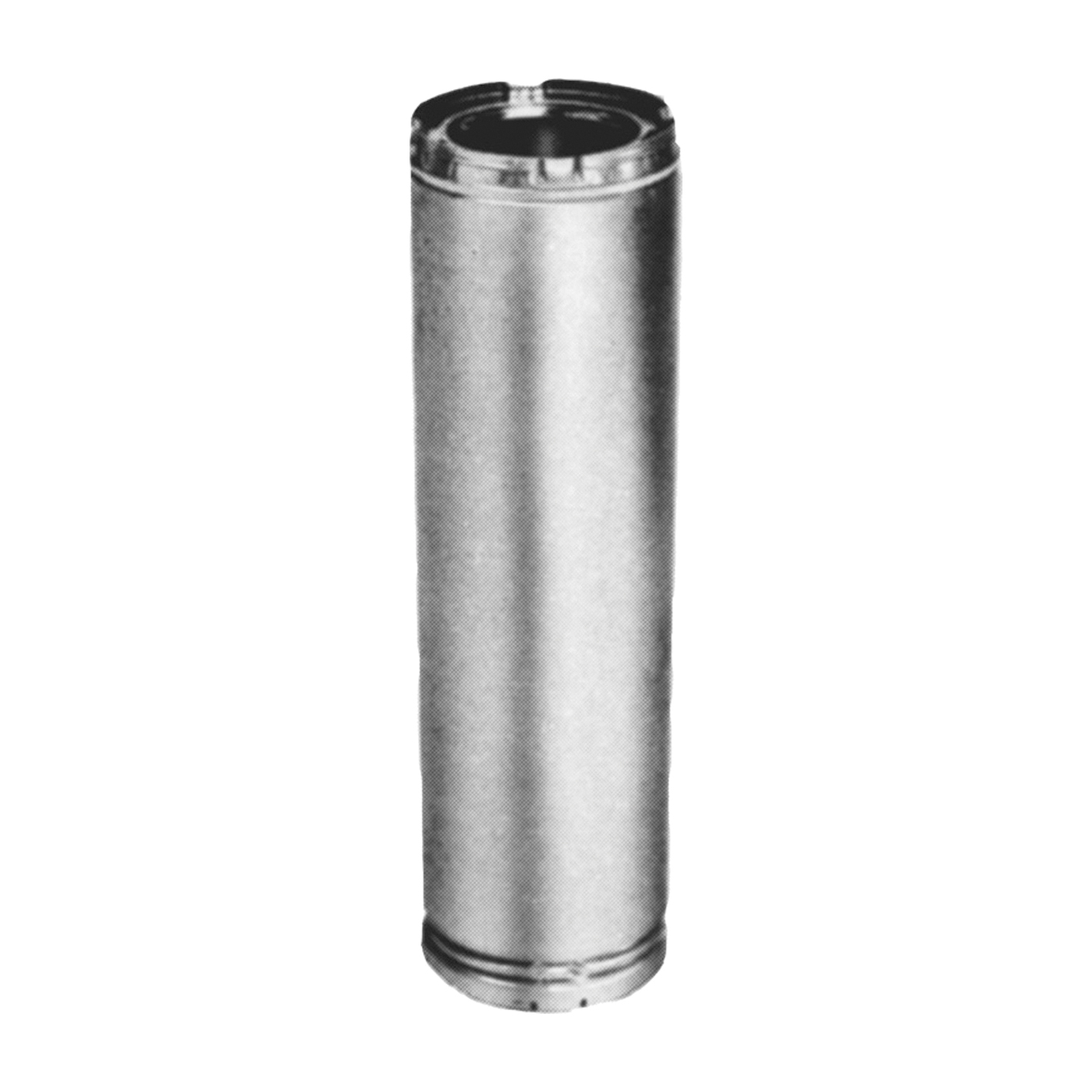 Picture of AmeriVent 8HS-12 Chimney Pipe, 11 in OD, 12 in L, Galvanized Stainless Steel