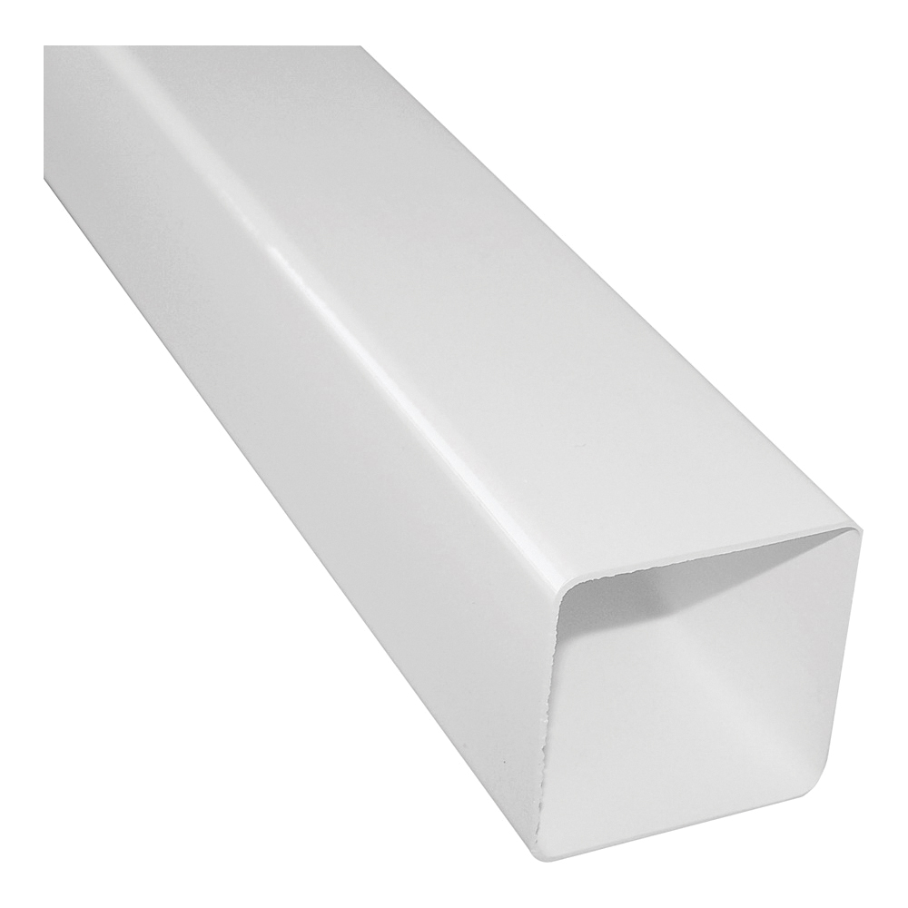 Picture of GENOVA RW200 Downspout, 2-1/2 in W, 2-1/2 in H, 10 ft L, Vinyl, White