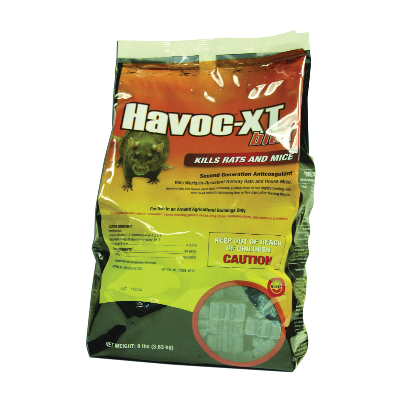 Picture of NEOGEN Havoc 116362 Mouse Killer, Pellet, 8 lb Package, Pouch