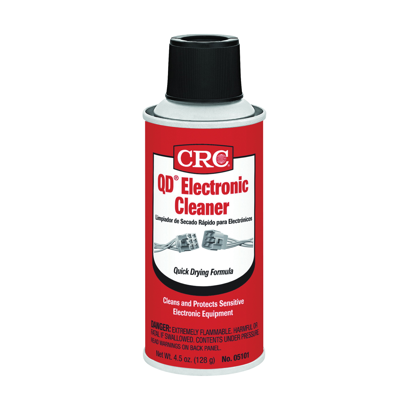 Picture of CRC QD 05101 Electronic Cleaner, 4.5 oz Package, Aerosol Can, Liquid, Alcohol