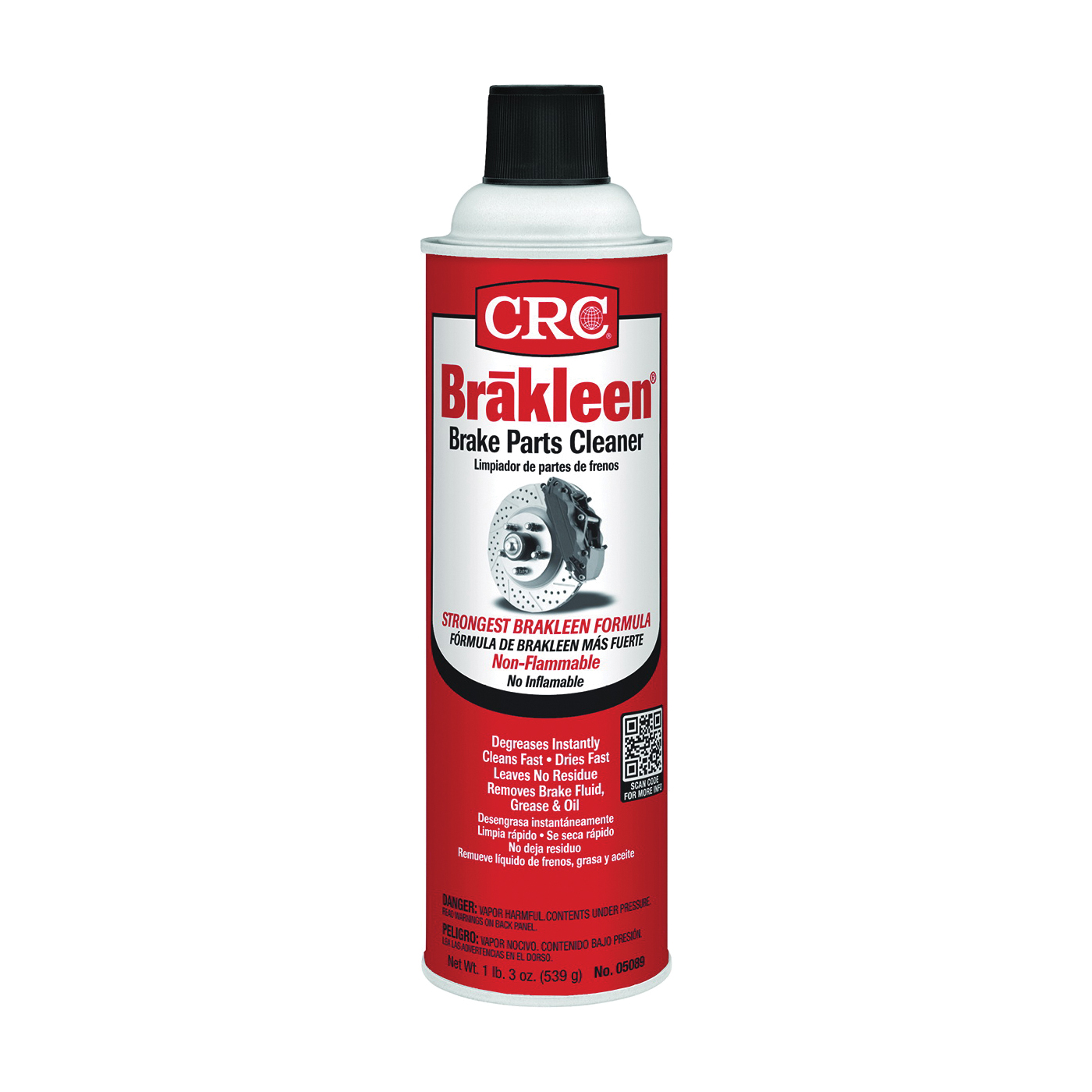 Picture of CRC 05089 Parts Cleaner, 19 oz Package, Aerosol Can, Liquid
