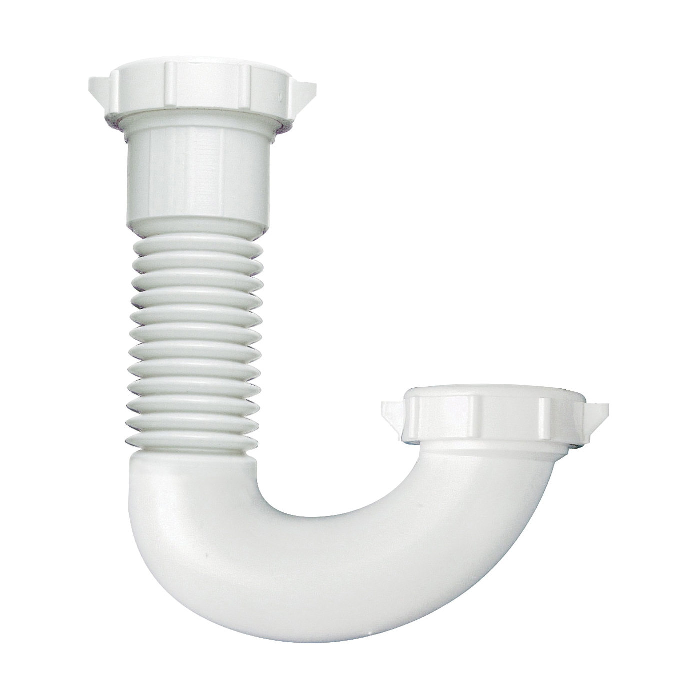 Picture of Plumb Pak PP812-50 J-bend, 1-1/2, 1/2 x 1-1/4 in, Slip Joint, Plastic, White