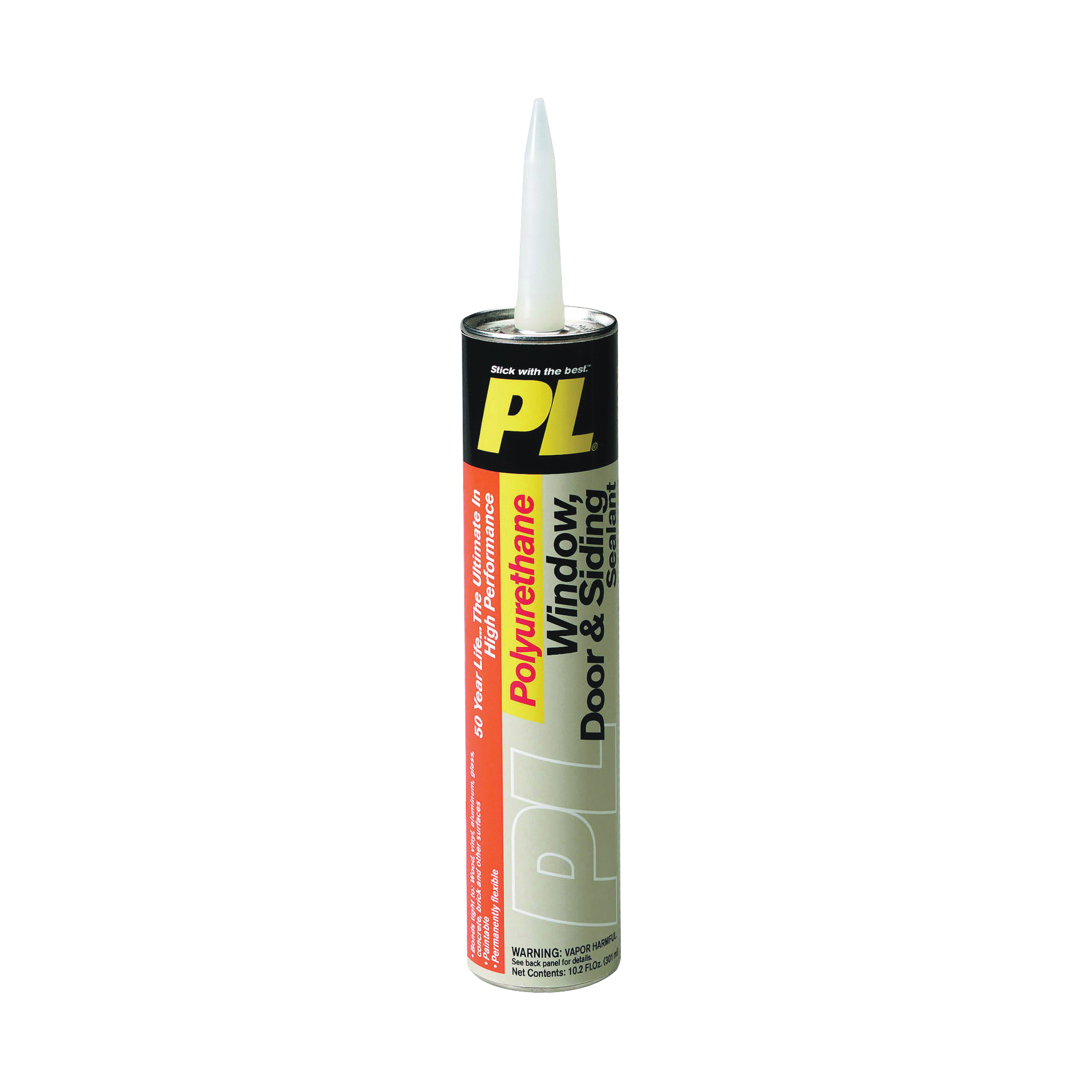 Picture of Loctite 1618176 Polyurethane Sealant, Gray, 7 Days Curing, 20 to 120 deg F, 10 oz Package, Cartridge