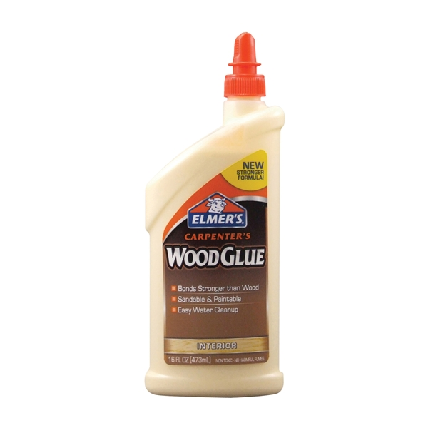 Picture of Elmers Carpenter's E7020 Wood Glue, Yellow, 16 oz Package, Bottle