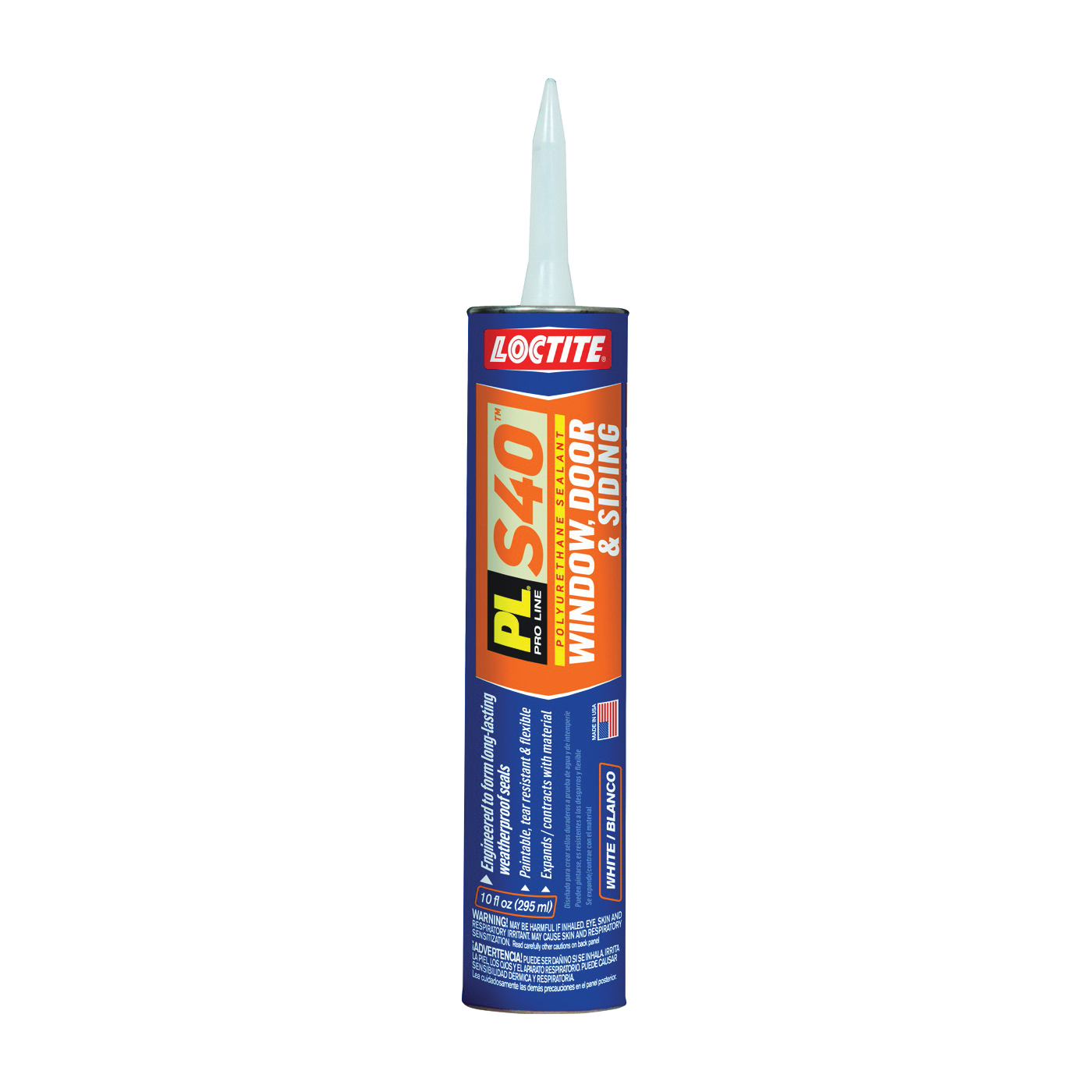 Picture of Loctite 1618182 Polyurethane Sealant, White, 7 Days Curing, 20 to 120 deg F, 10 oz Package, Cartridge