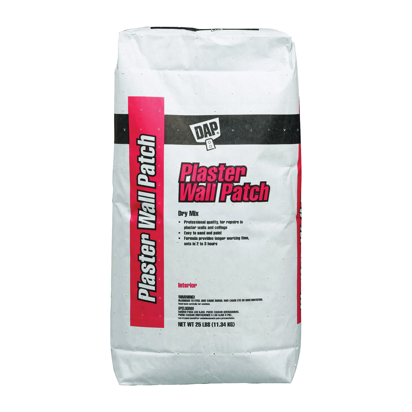 Picture of DAP 10304 Plaster Wall Patch, Powder, White, 25 lb Package, Bag