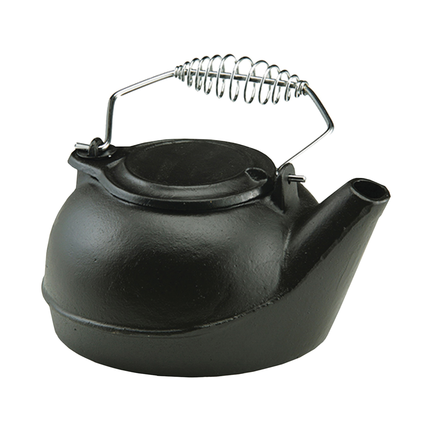 Picture of US STOVE TK-02 Tea Kettle, 3 qt Capacity, Spring-Loaded Handle, Iron, Black