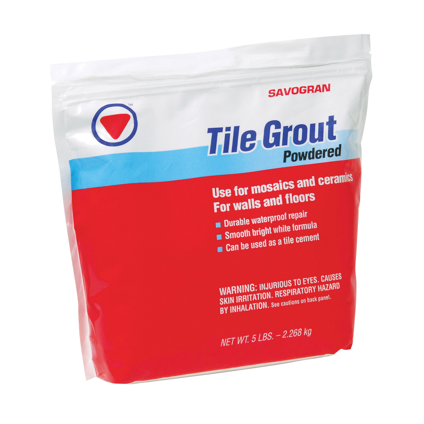 Picture of SAVOGRAN 12842 Powdered Tile Grout, Powder, Off-White, 5 lb Package