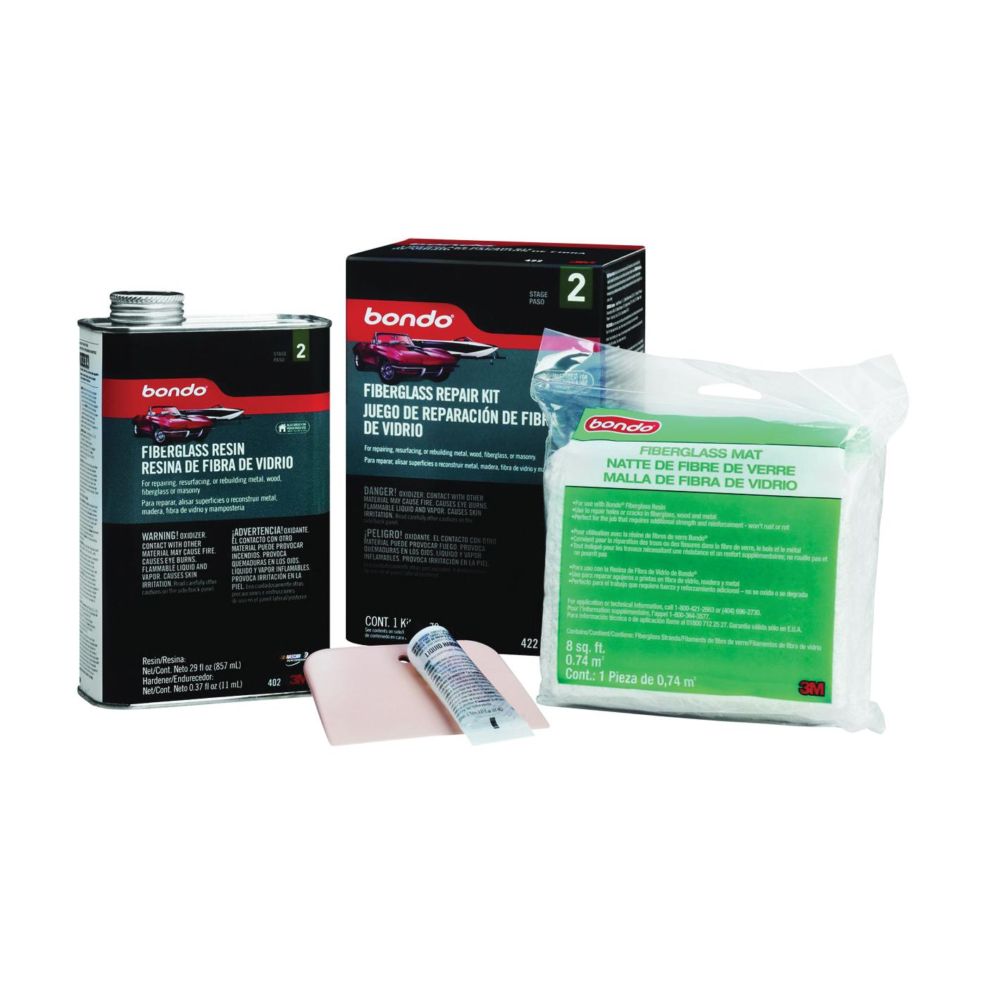 Picture of Bondo 422 Fiberglass Resin Repair Kit Can, Can, Liquid, Pungent Organic