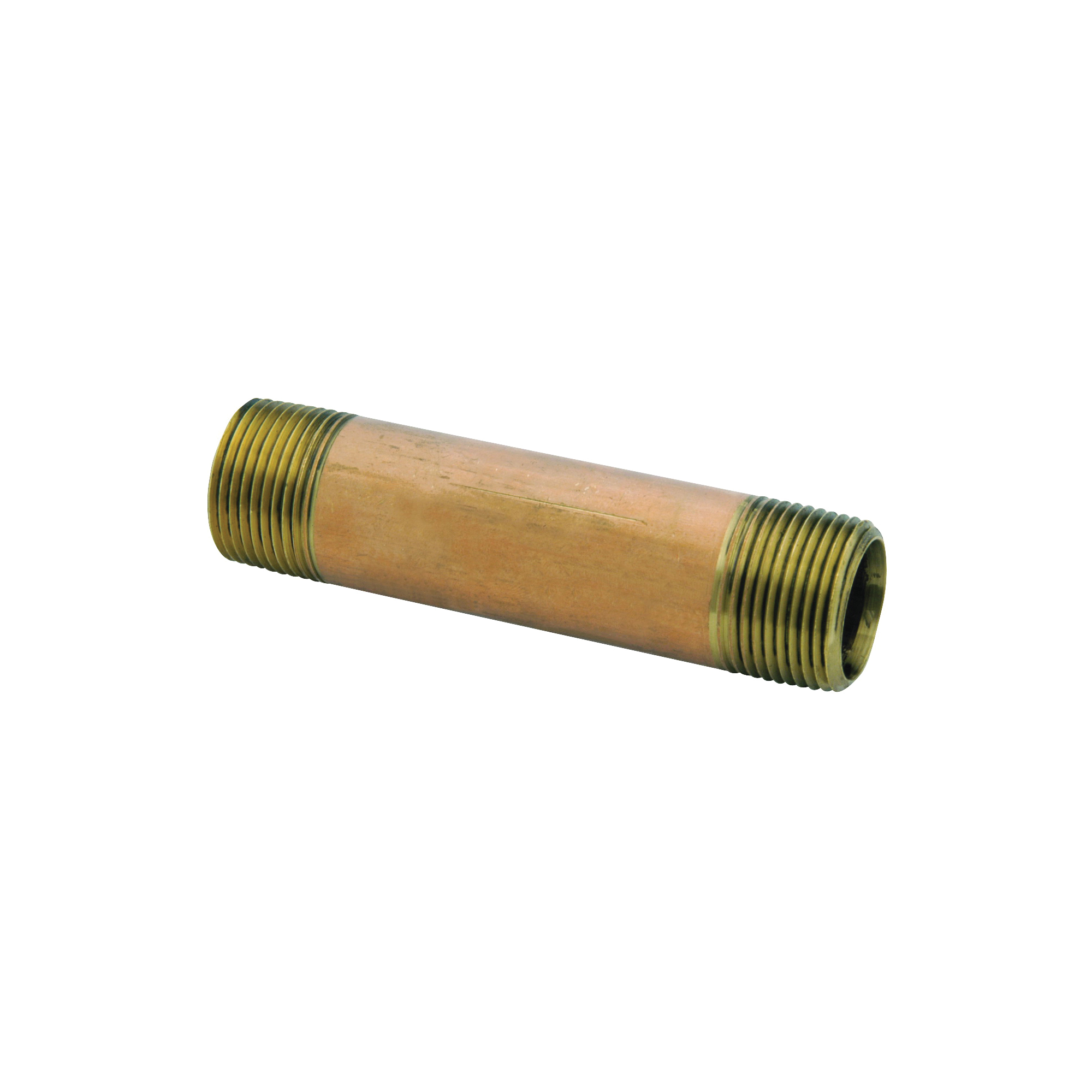 Picture of Anderson Metals 38300-0625 Pipe Nipple, 3/8 in, NPT, Brass, 890 psi Pressure, 2-1/2 in L
