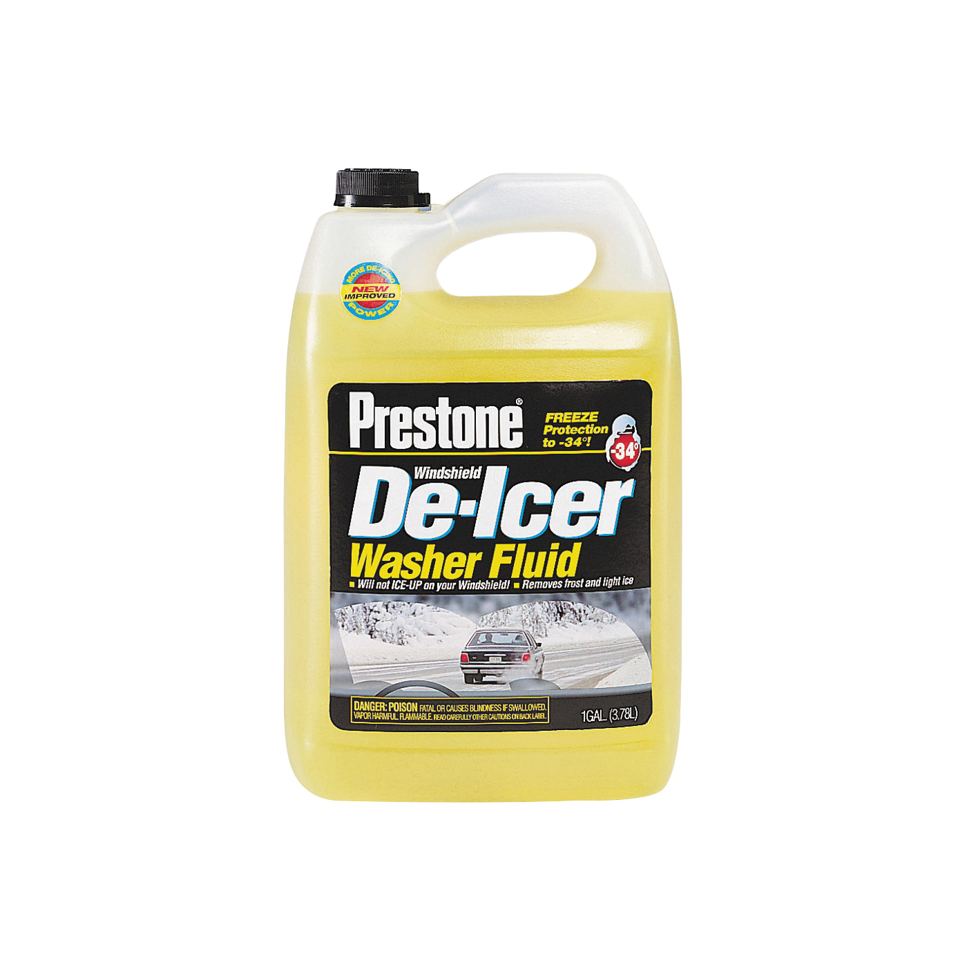 Picture of Prestone AS-250 Windshield Washer Fluid Clear Yellow, 1 gal Package, Bottle
