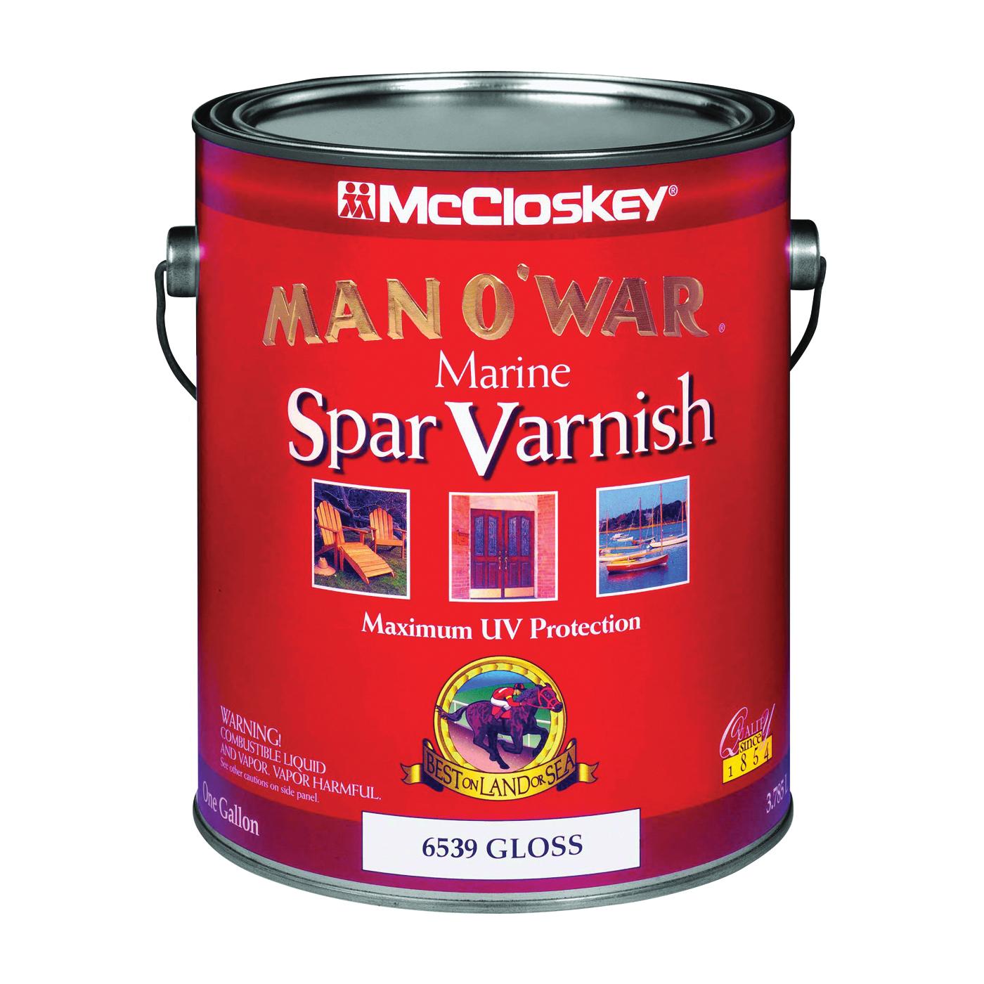 Picture of McCloskey Man O' War 6539 Marine Spar Varnish, Gloss, Clear, Liquid, 1 gal