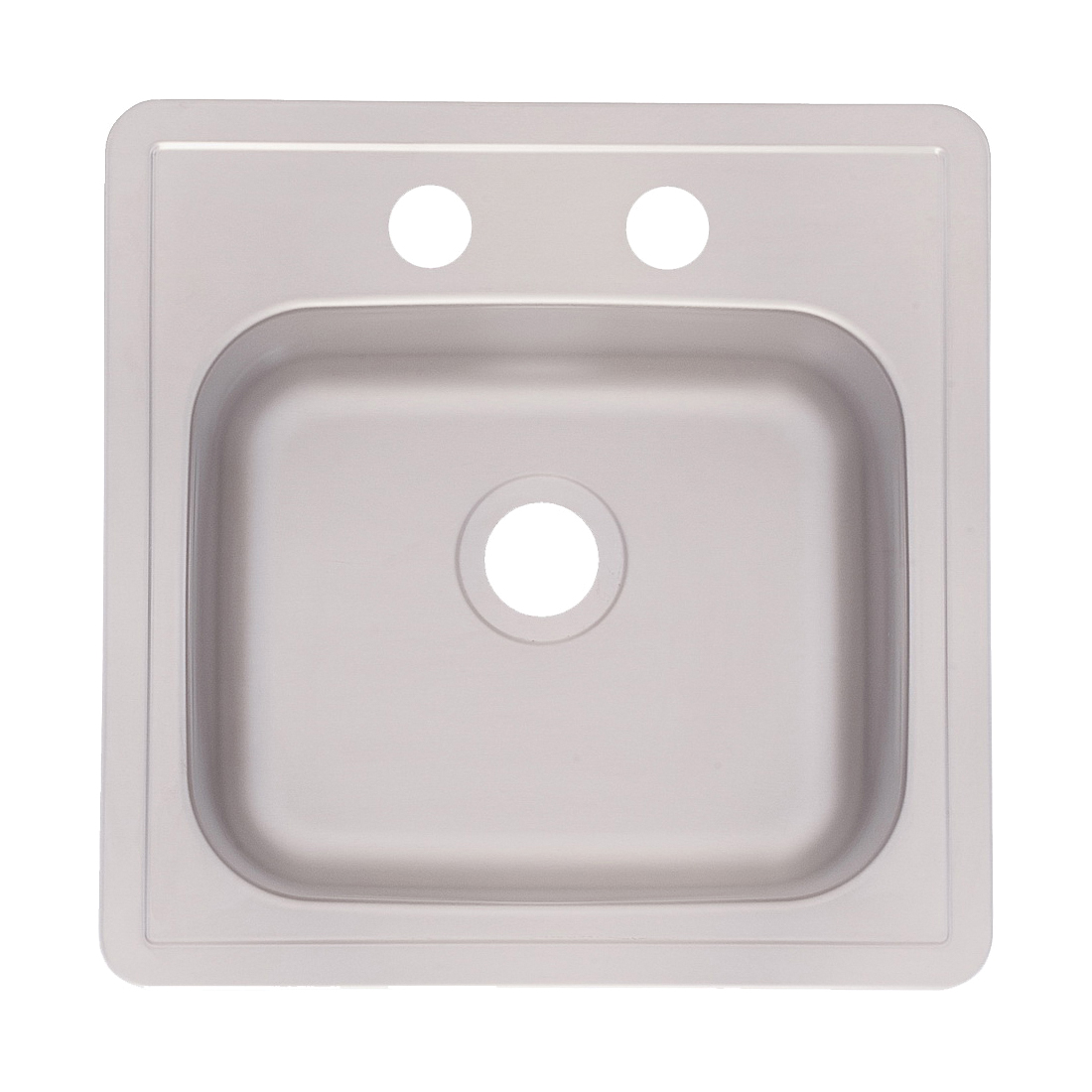 Picture of KINDRED FBS602NB Bar/Utility Sink, 2-Hole, 15 in L x 15 in W x 6 in D Dimensions, Stainless Steel, Silk, 1-Bowl