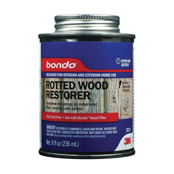 Picture of 3M 20131 Rotted Wood Restorer, Liquid, No Odor, White, 8 fl-oz Package, Can