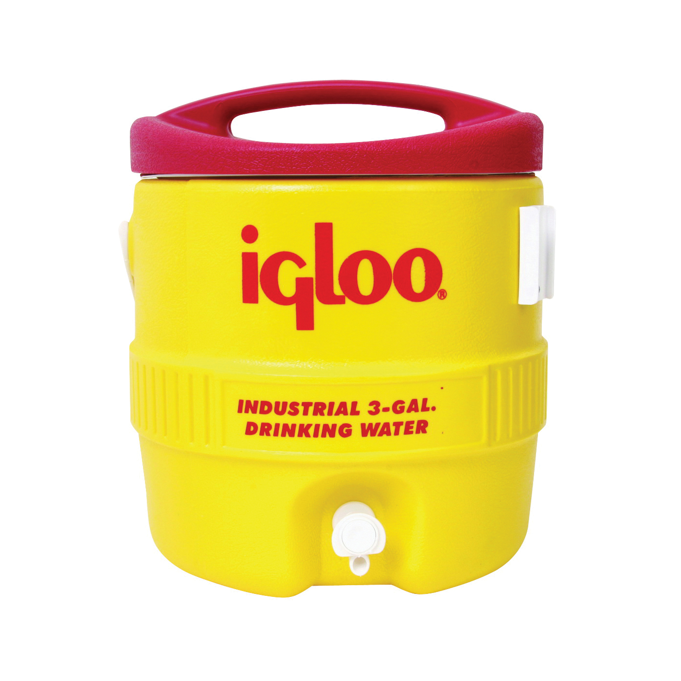 Picture of IGLOO 400 Series 00000431 Water Cooler, 3 gal Tank, Drip Resistant Spigot, Polyethylene, Red/Yellow