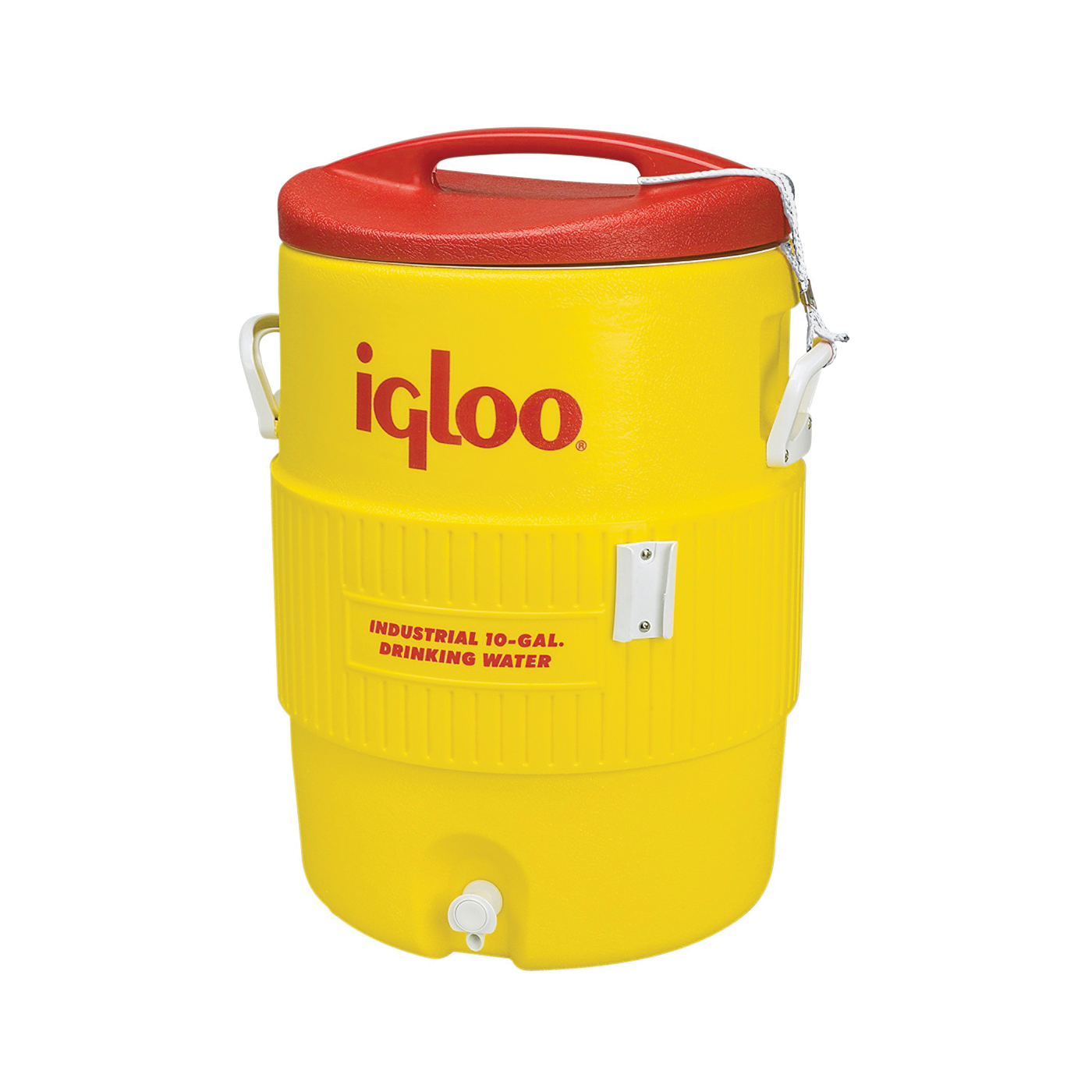 Picture of IGLOO 400 Series 00004101 Water Cooler, 10 gal Tank, Polyethylene, Red/Yellow
