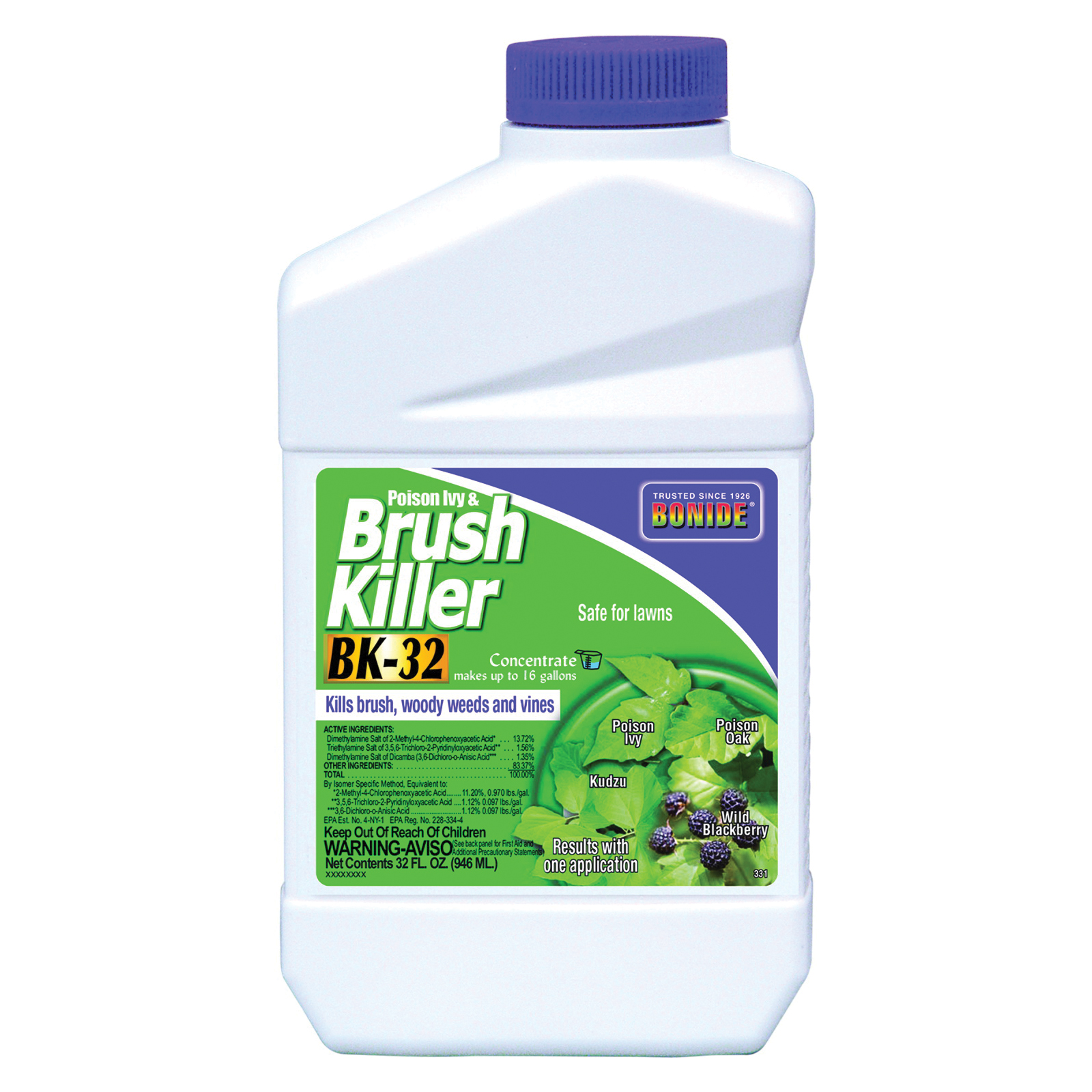 Picture of Bonide 331 Brush Killer, Liquid, Clear Yellow, 12 qt Package