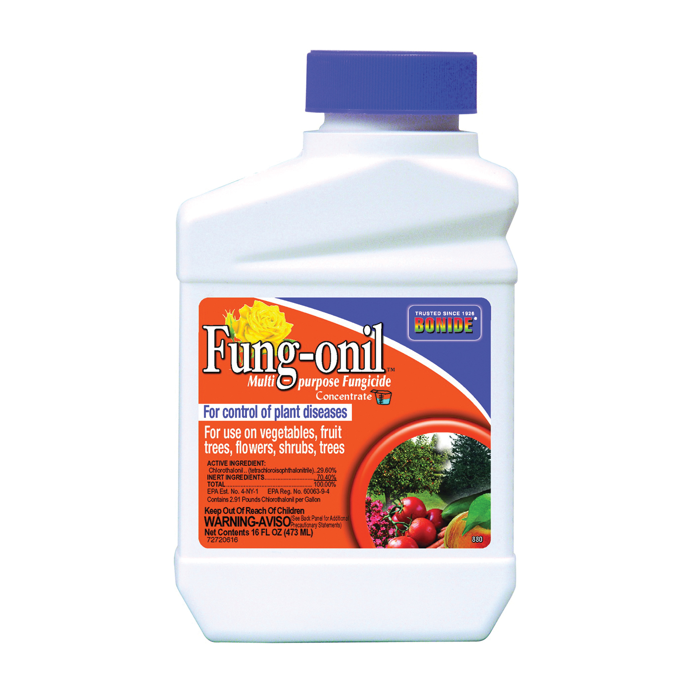 Picture of Fung-onil 880 Fungicide, Liquid, Minimal, White, 1 pt Package