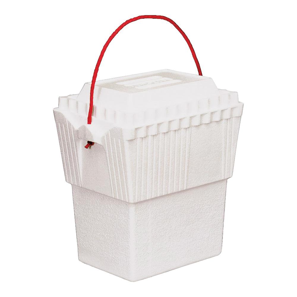 Picture of LIFOAM 3417 Ice Chest, 12 qt Cooler, Styrofoam, White