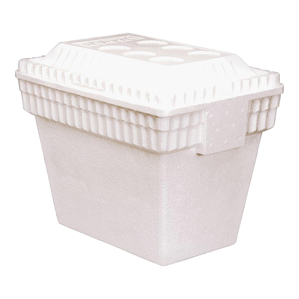 Picture of LIFOAM 3542 Ice Chest, 12 qt Cooler, Styrofoam, White