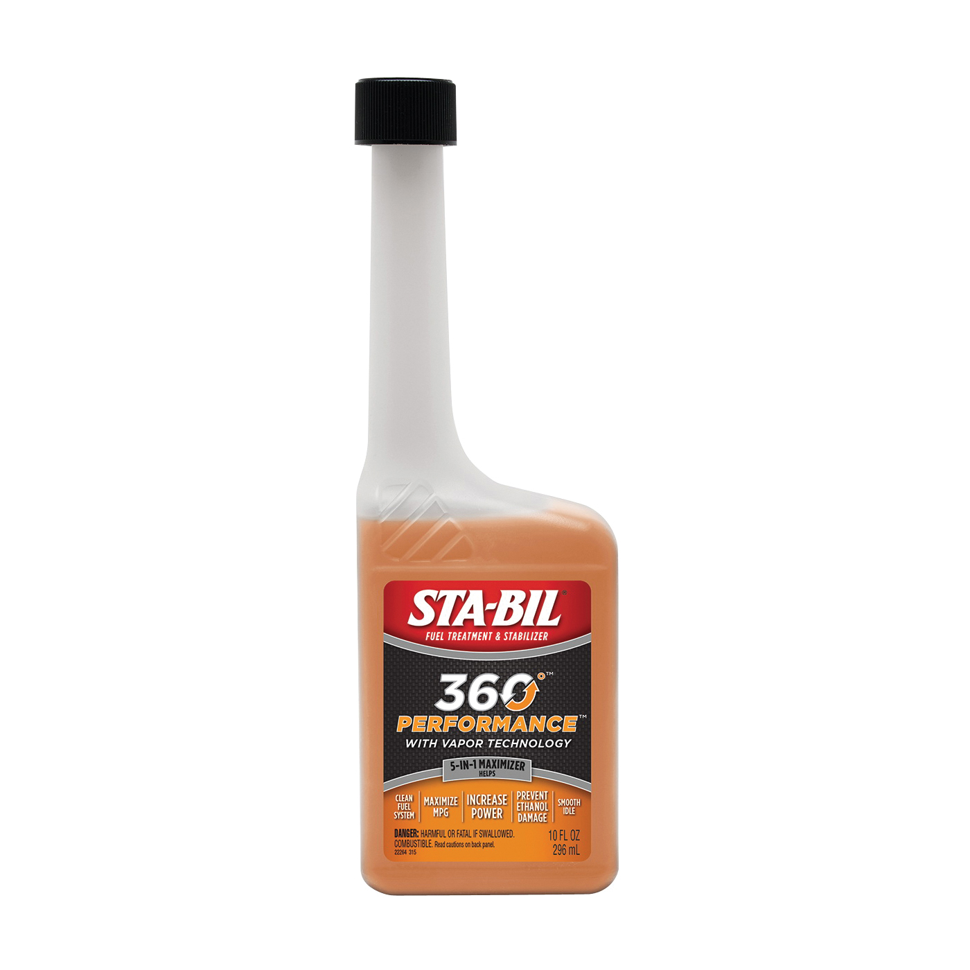 Picture of STA-BIL 360° Protection 22264 Fuel Treatment Amber/Brown, 10 oz Package, Bottle