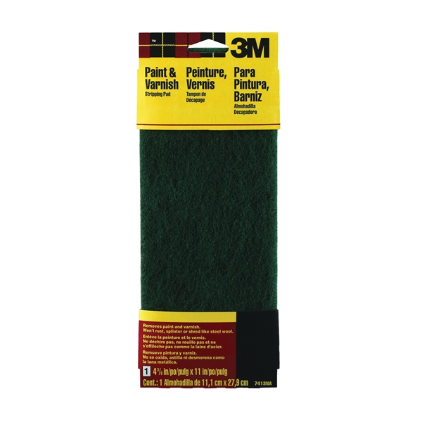 Picture of 3M 7413 Stripping Pad, 11 in L, 4-3/8 in W, Coarse
