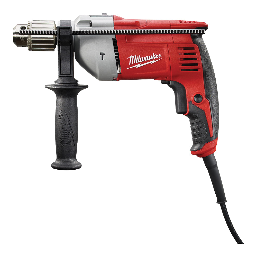 Picture of Milwaukee 5376-20 Hammer Drill, 120 V, 8 A, 1/2 in Twist Bit, 1-1/4 in Hole Saw Bit, 5/8 in Concrete Drilling