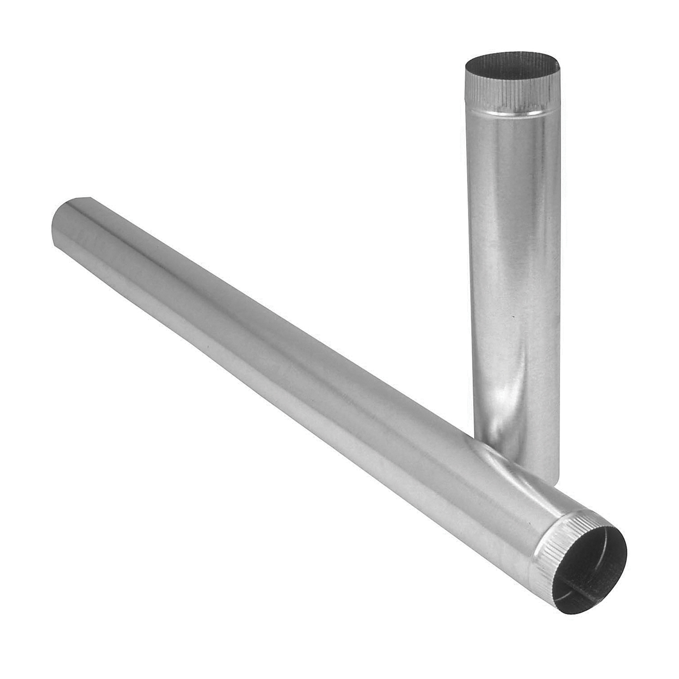 Picture of Imperial GV0355 Duct Pipe, 4 in Dia, 24 in L, 26 Gauge, Galvanized Steel, Galvanized