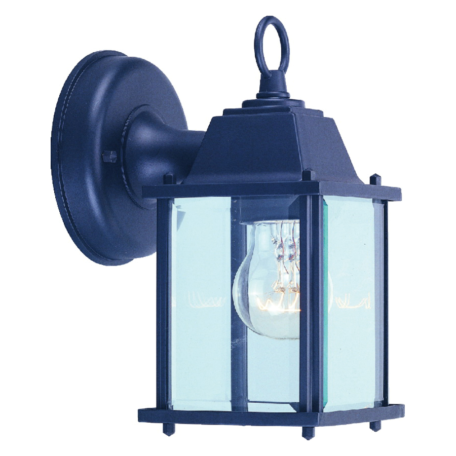 Picture of Boston Harbor AL1037-53L Porch Light Fixture, CFL Lamp, Aluminum Fixture, Black