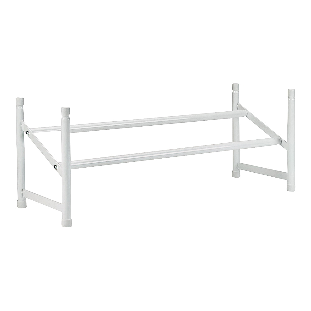 Picture of ClosetMaid 811100 Shoe Rack, 42-1/2 in W, 9-5/8 in H, Steel, White