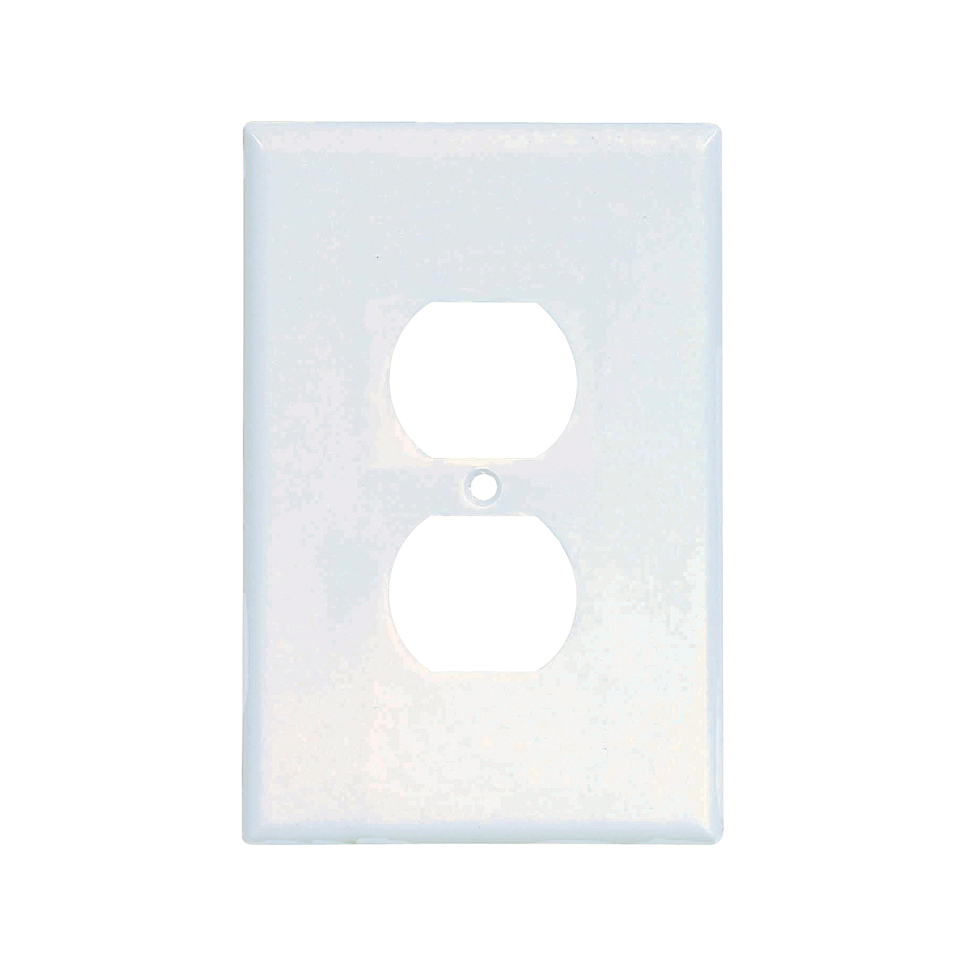 Picture of Eaton Wiring Devices 2142W-BOX Duplex Receptacle Wallplate, 5-1/4 in L, 3-1/2 in W, 1-Gang, Thermoset, White