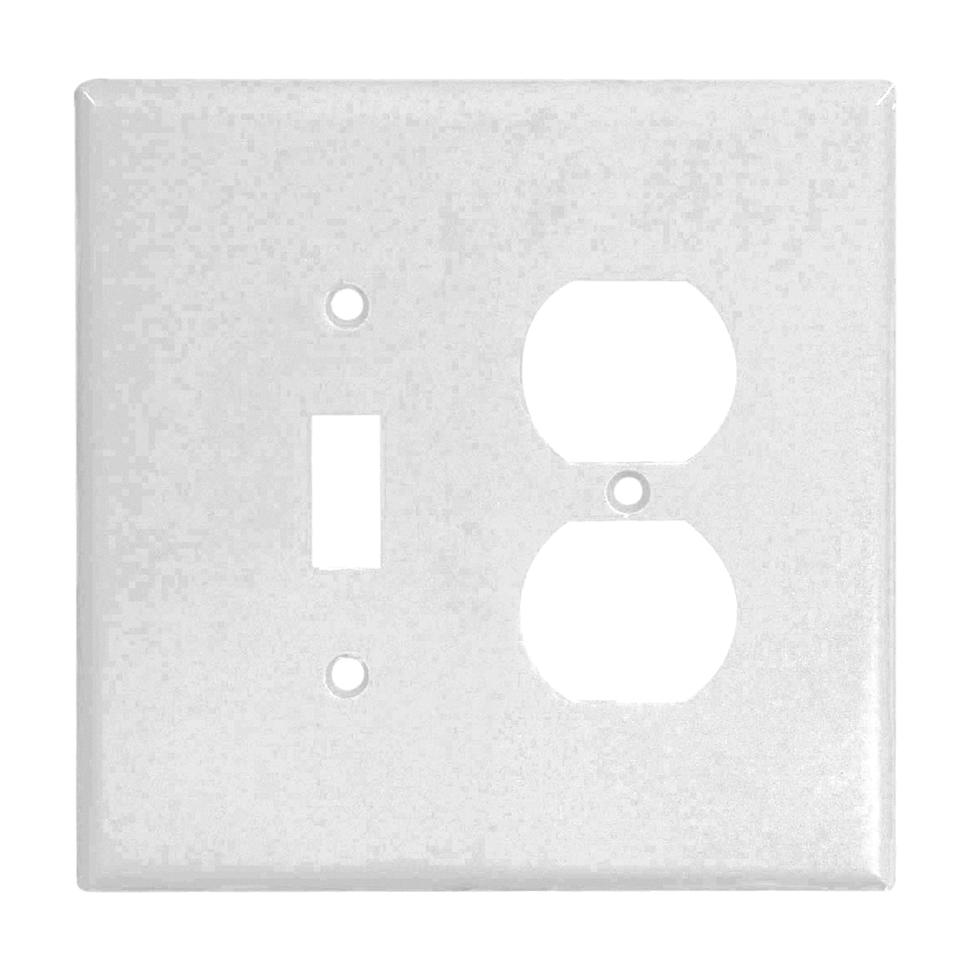 Picture of Eaton Wiring Devices 2148W-BOX Wallplate, 4-1/2 in L, 4-9/16 in W, 2-Gang, Thermoset, White, Flush Mounting
