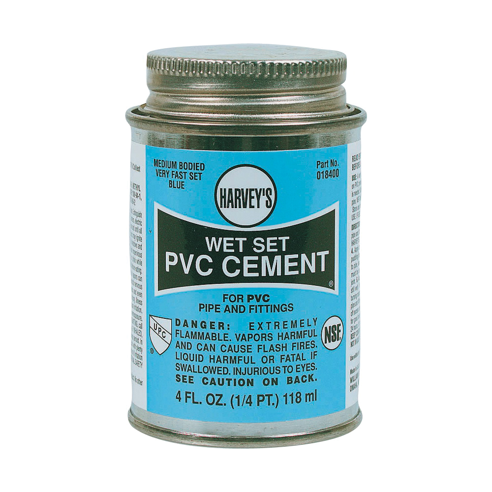 Picture of HARVEY 018400-24 Solvent Cement, 4 oz, Can, Liquid, Blue