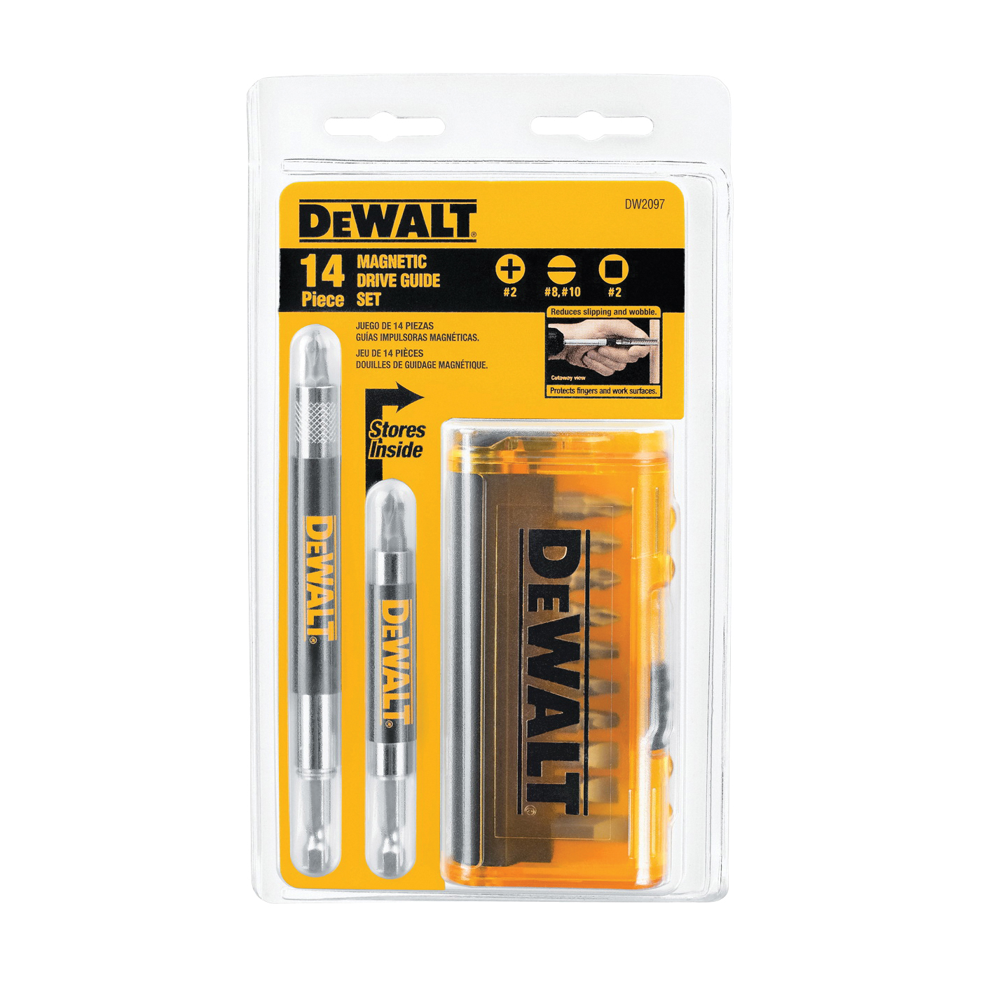Picture of DeWALT DW2097CS Drive Guide Set, 14 -Piece, Low Carbon Steel