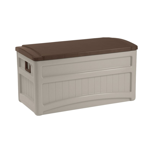 Picture of Suncast DB8000B Deck Box, 46 in W, 22 in D, 23 in H, Resin, Light Taupe