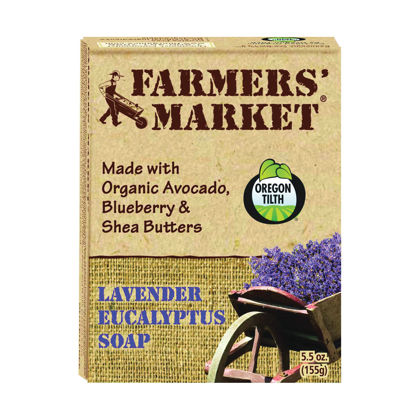 Picture of FARMERS' MARKET 946872081-12PK Bar Soap, Eucalyptus, Lavender, 5.5 oz Package