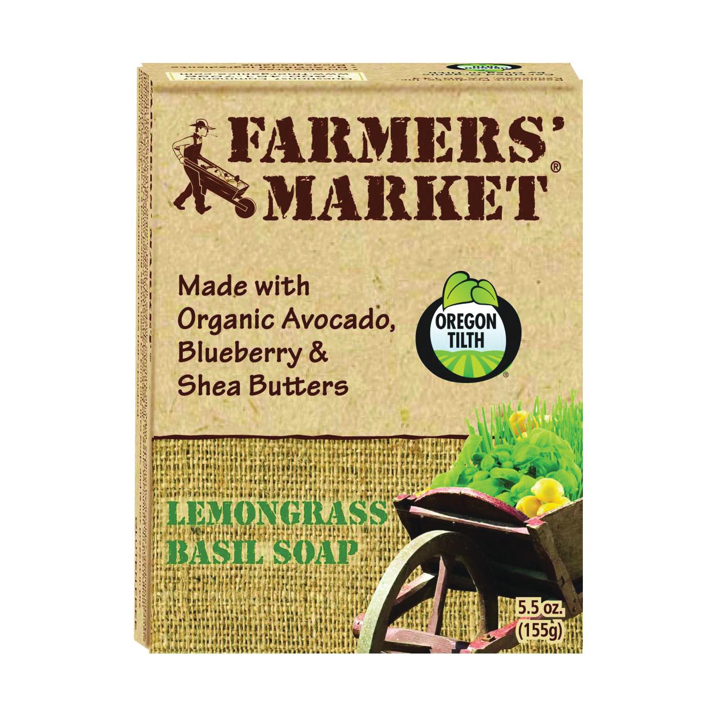 Picture of FARMERS' MARKET 946872082-12PK Bar Soap, Basil, Lemongrass, 5.5 oz Package