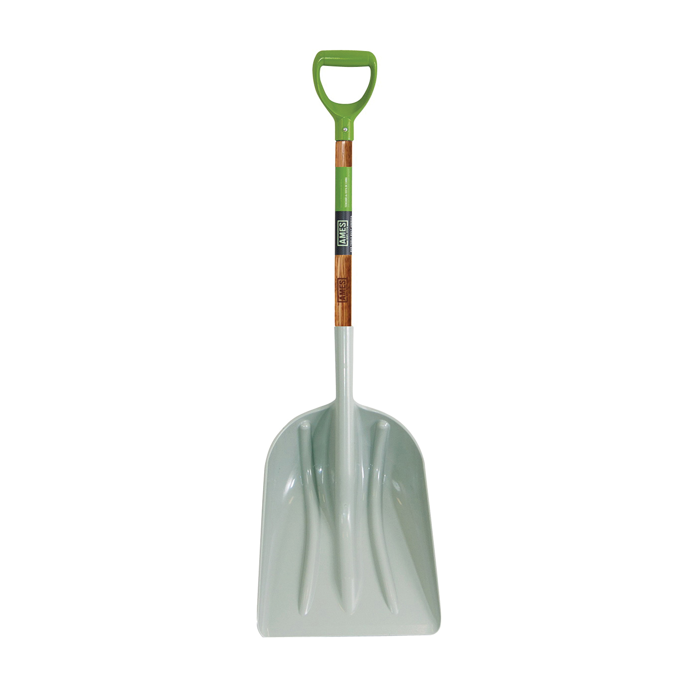 Picture of AMES 2682700 Scoop Shovel, 14 in W Blade, 18 in L Blade, ABS Blade, Northern Hardwood Handle, D-Shaped Handle