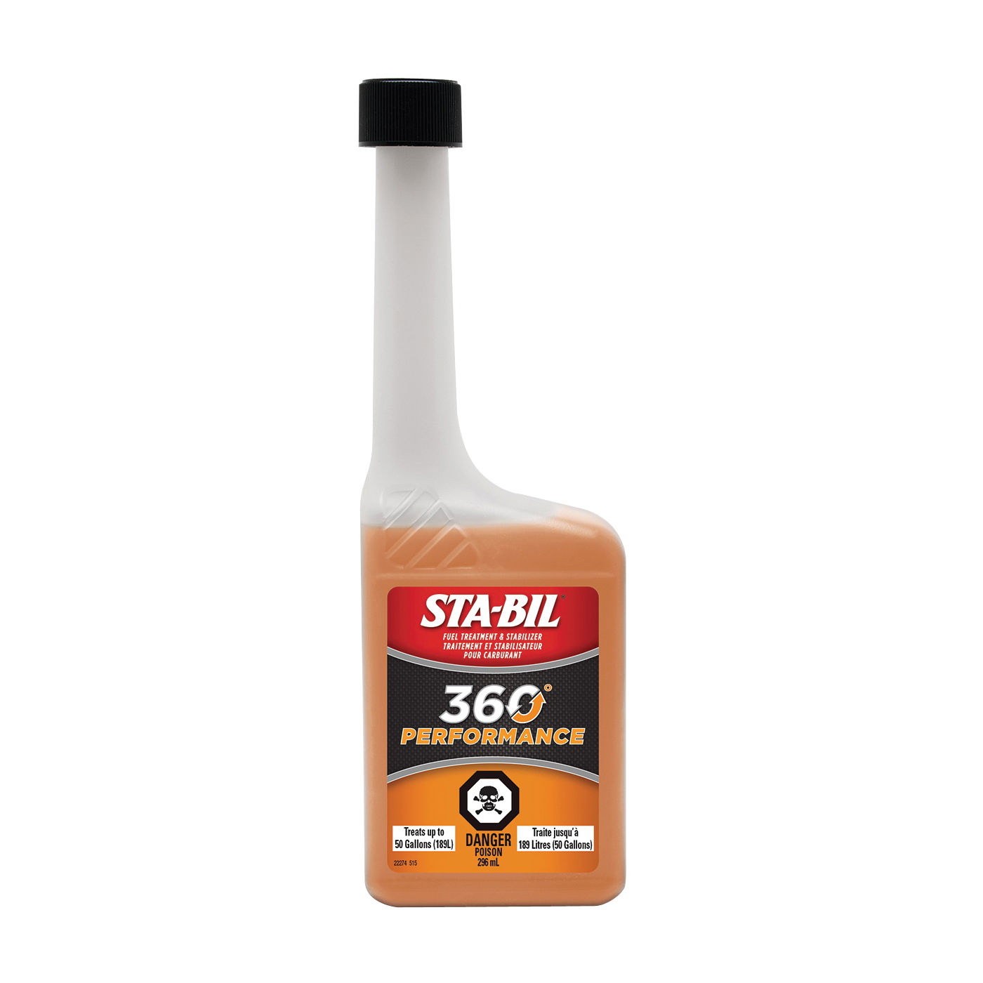 Picture of STA-BIL 360° Performance 22274 Fuel Treatment Amber/Brown, 10 oz Package, Bottle