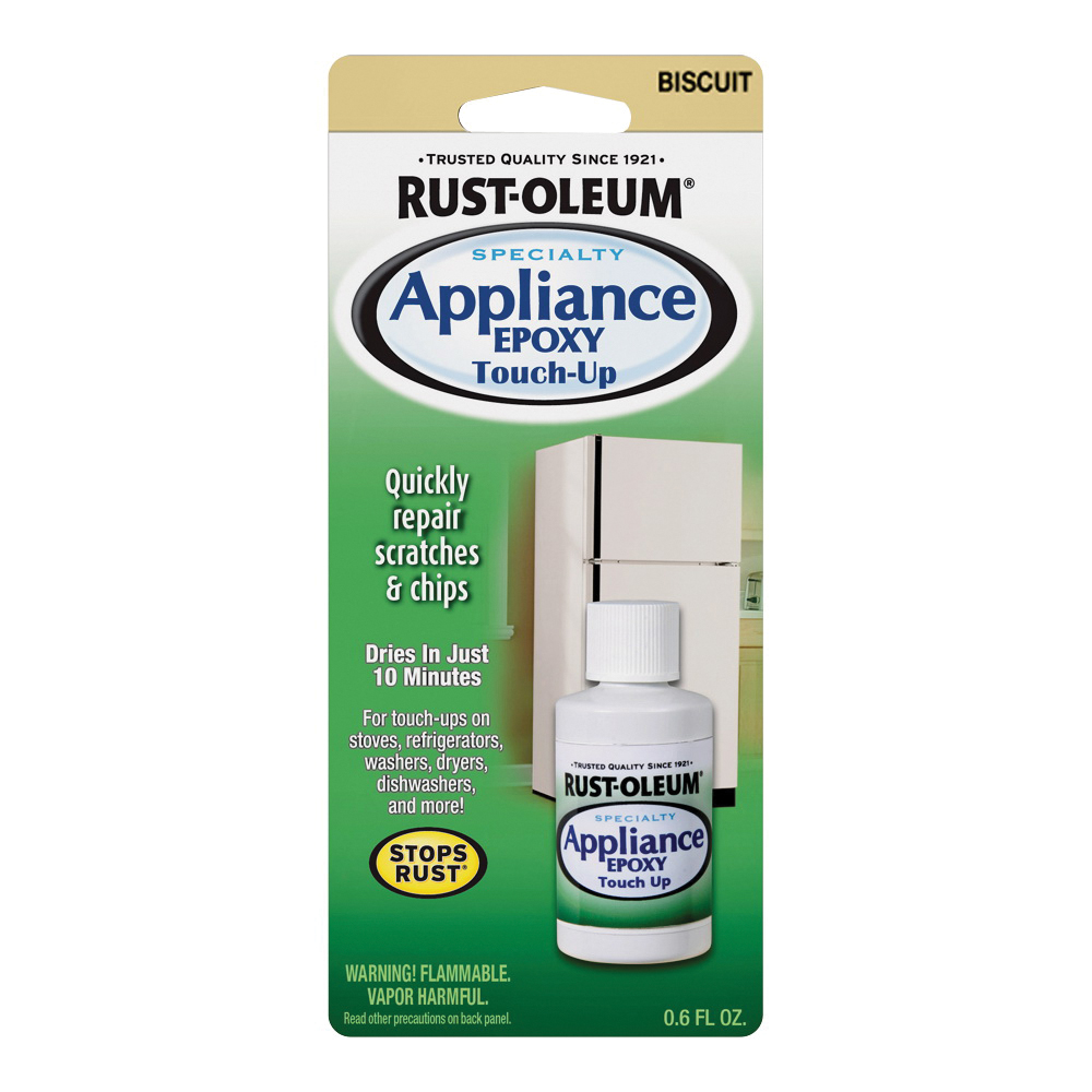 Picture of RUST-OLEUM SPECIALTY 203002 Appliance Touch-Up Paint, Solvent-Like, Biscuit, 0.6 oz, Bottle