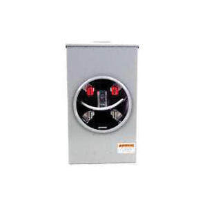 Picture of Siemens Murray SS102AX Meter Socket, 1-Phase, 200 A, 300 V, 4-Jaw, Overhead Feed Cable Entry, NEMA 3R Enclosure