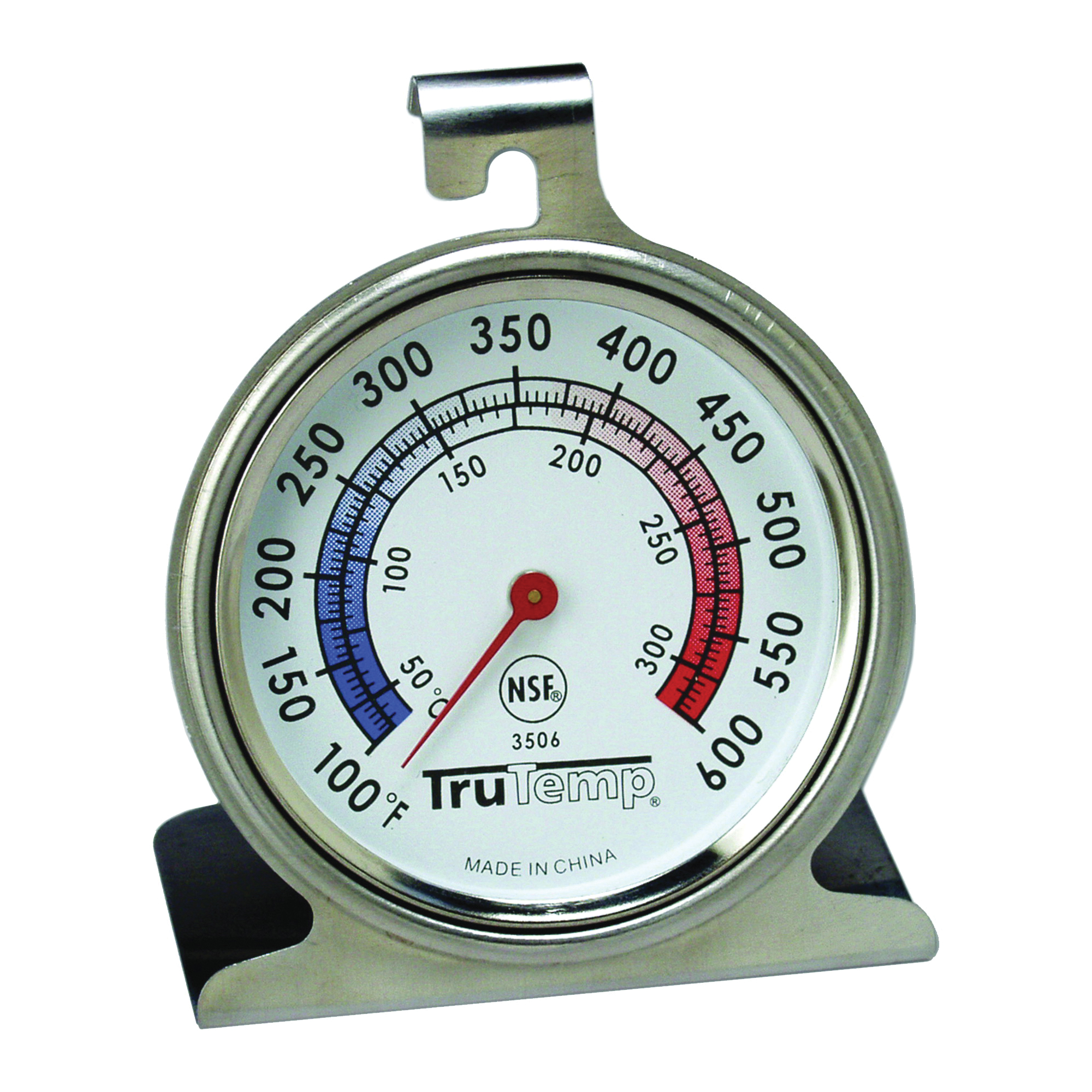 Picture of Taylor 3506 Oven Thermometer, 100 to 600 deg F, Analog Display, Gray